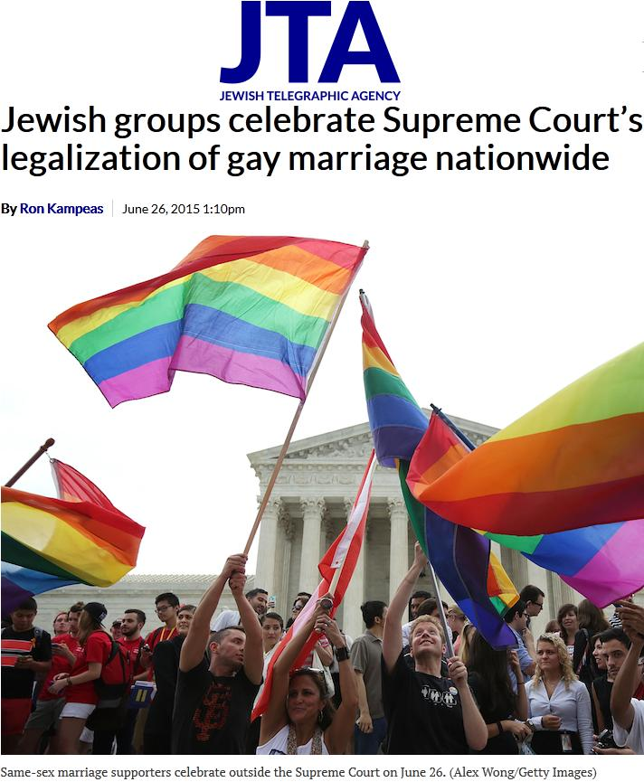 jta-jewish-telegraphic-agency-group-celebrate-supreme-court-legalization-gay-marriage-homo-faggot-trans-hiv-aids-pedophile-rape-boy